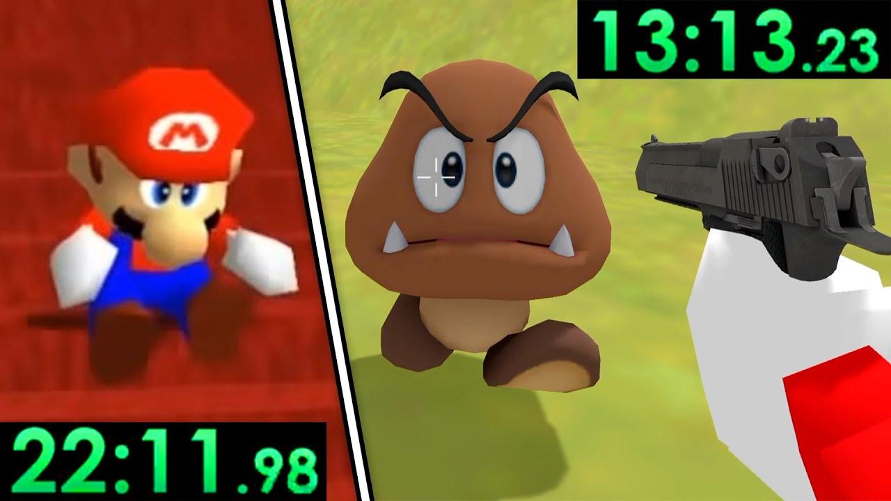 Super Mario 64 VS Gun Mario 64 (RACE)