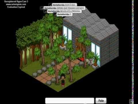 Habbo constru o rel mpago frente de casa youtube for Casas en habbo