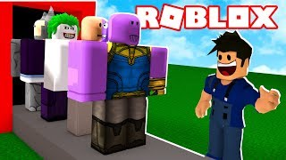 SUPER VILLAINS FACTORY IN ROBLOX!! (Villains Tycoon)