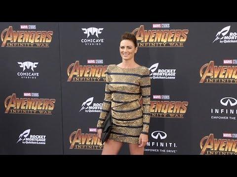"""Monique Ganderton """"Avengers: Infinity War"""" World Premiere Purple Carpet"""