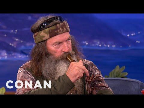 Duck Commanders Teach Conan To Make Duck Calls - CONAN on TBS