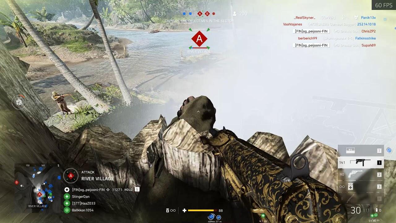 Battlefield V (PC) - Grease gun in Solomon Islands