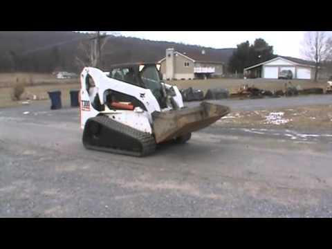 2007 Bobcat T300 Rubber Track Skid Steer Loader Cab Heat Air Gold Package  For Sale