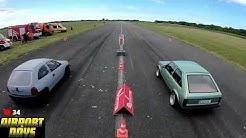 Das 1/4 Meile Dragstar Rennen Live vom Anklamer Airport | Airport Days Anklam #3
