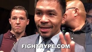 """(WOW!) PACQUIAO EXPLAINS HOW HE'D BEAT ERROL SPENCE; GETS ANIMATED: """"SPEED IS THE KEY"""""""