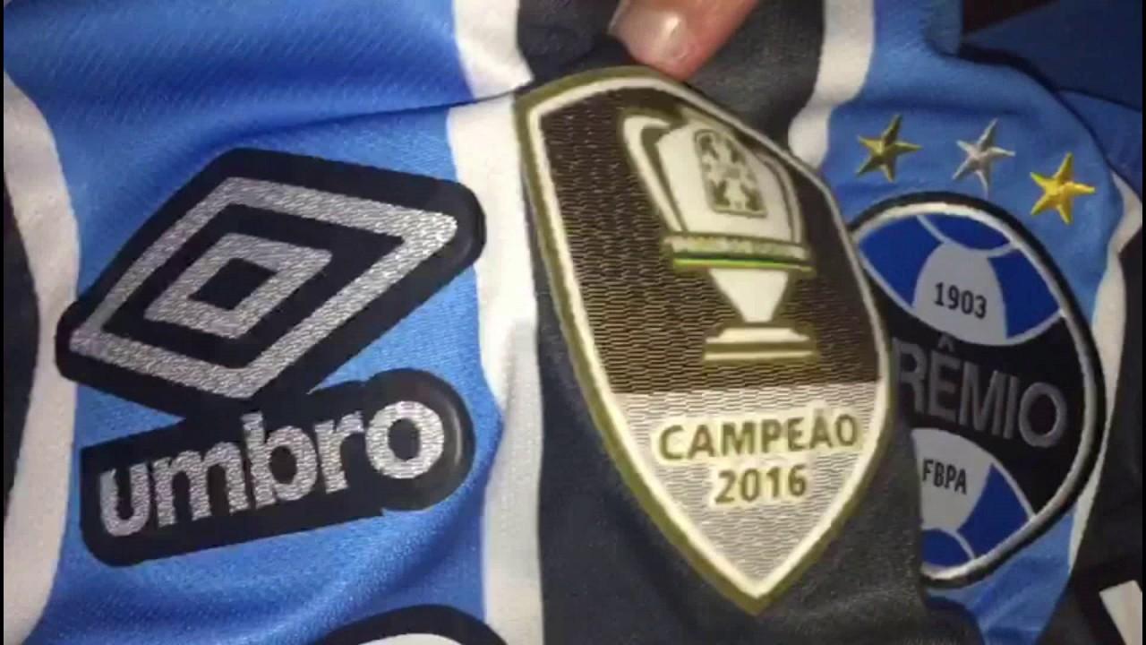 5d5a1dba5b Camiseta Grêmio I 2017 Campeão Copa do Brasil - YouTube