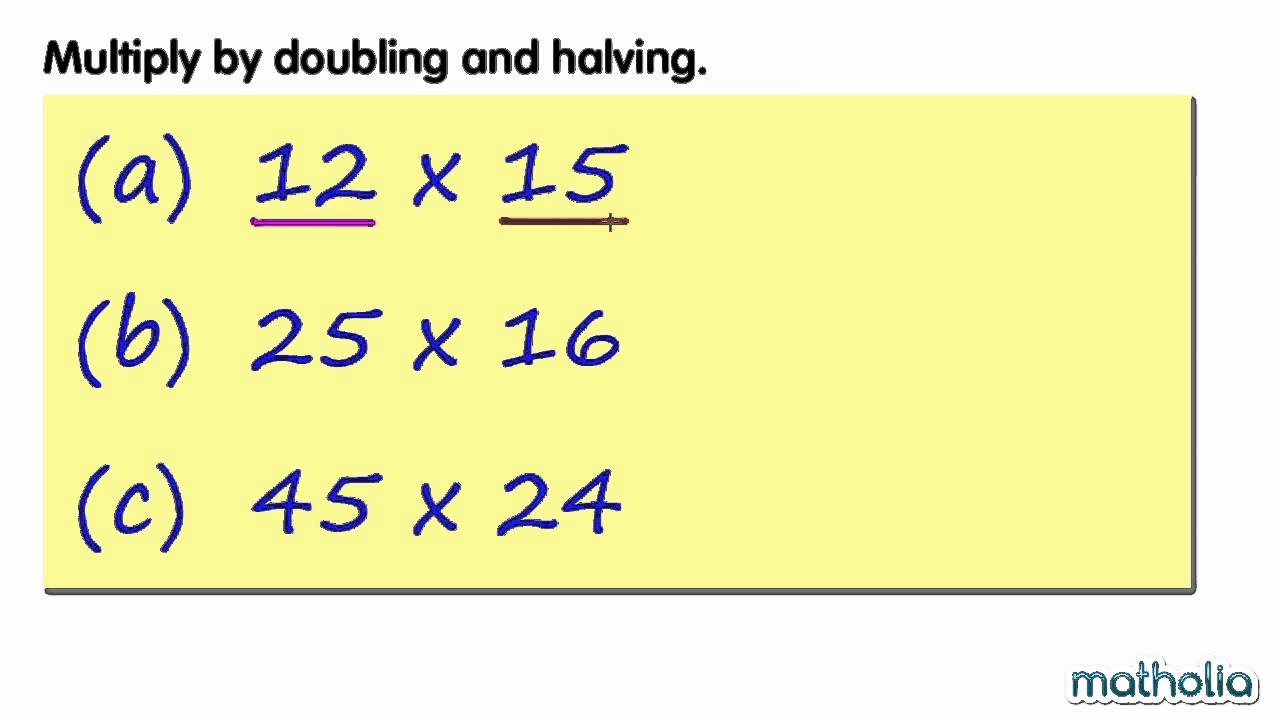 hight resolution of Mental Methods: Multiply by Doubling and Halving - YouTube