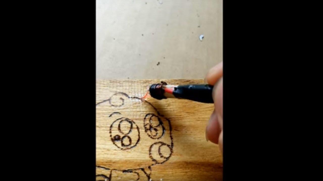 hướng dẫn chế bút vẽ tranh lên gỗ cực đơn giản