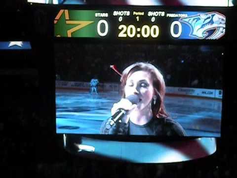 "National Anthem @ Dallas Stars game - ""STARS"""