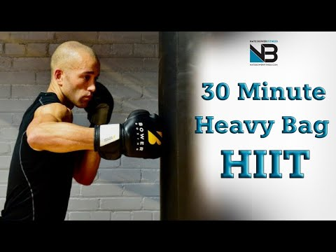 30 Minute Boxing Heavy Bag HIIT Workout | NateBowerFitness