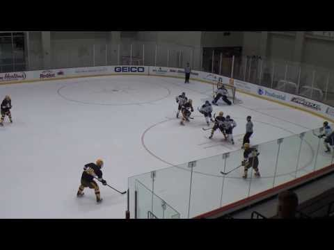 Andrew Dougherty scores power play goal against Wagner College