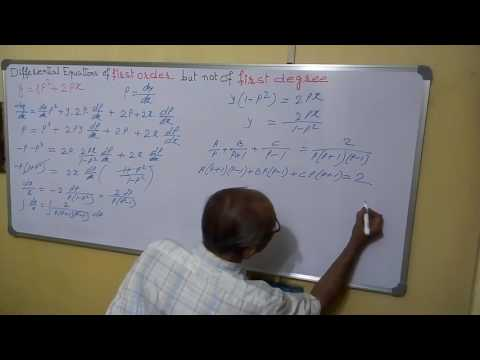 Diff. equation, First order, Higher degree