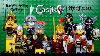 LEGO Castle Knights, Viking, Gladiator KnockOff Minifigures Set 2 (Bootleg)