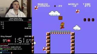 (2:35.255) Super Mario Bros. Minus World ending speedrun *Former World Record*