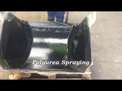 Polyurea Spraying using a Graco Reactor E-10 of an Bauxite