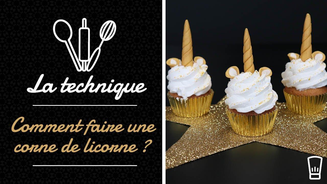 Corne De Licorne En Pâte A Sucre Décor Gâteaux Youtube