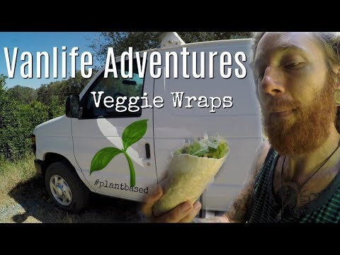 Vanlife Adventures Whole Food Plant Based Veggie Wraps Calif