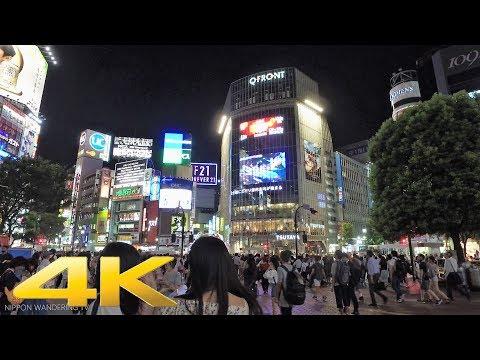 Summer night 2017 in Shibuya, Tokyo - Long Take【東京・渋谷】 4K