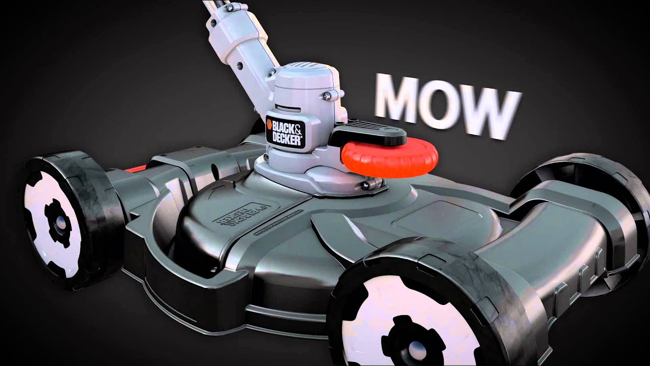 Black Decker 3 in 1 Edger Grass Trimmer Lawn Mower YouTube