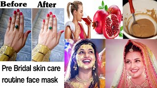 Pre Bridal skin care routine Pomegranate face mask skin whitening face mask bridal ubtan