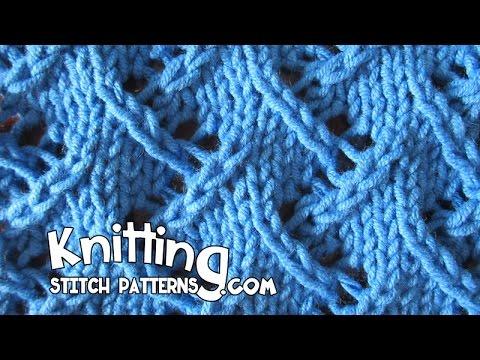 Zig Zag Lace Knitting Youtube
