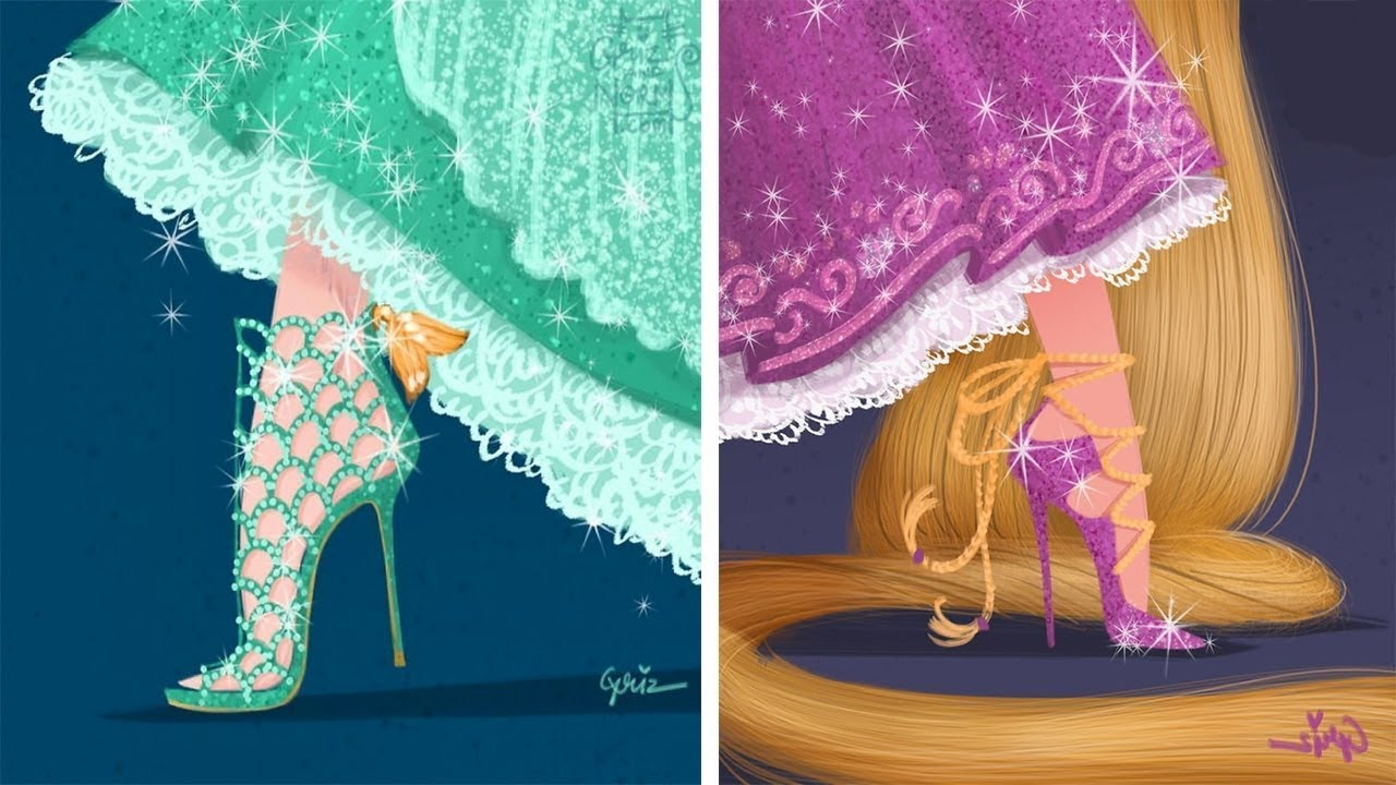 Если бы Принцессы Диснея носили дизайнерскую обувь