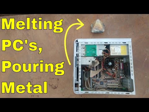 Shredding & Melting Recycled Computers: Gold, Silver, Copper, Scrap Metal Recovery