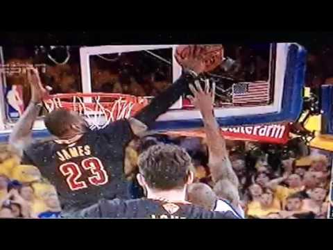 LeBron James Block Of Andre Iguodala Layup Keys Cavaliers NBA Finals Win