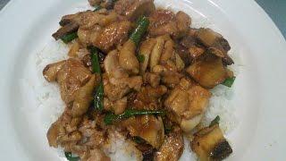 Как приготовить Курицу с грибами и рисом в Воке!!!