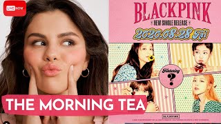 """""""coming up on today's show ... selena gomez announces an official collab and it made us say, """"omt!"""" we also have our karjenner tea along with couples..."""