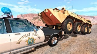 Crazy Police Chases #81 - BeamNG Drive Crashes