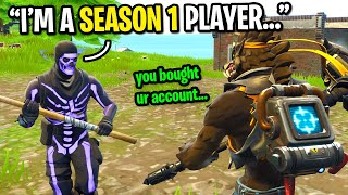 I caught a PURPLE Skull Trooper LYING about being a Season 1 Fortnite player...