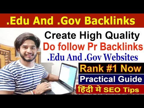 SEO - Part 52 | Create High PR .edu and .gov backlinks | How to find .edu and .gov sites