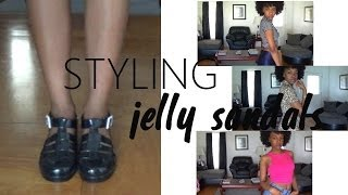 STYLING | jelly sandals