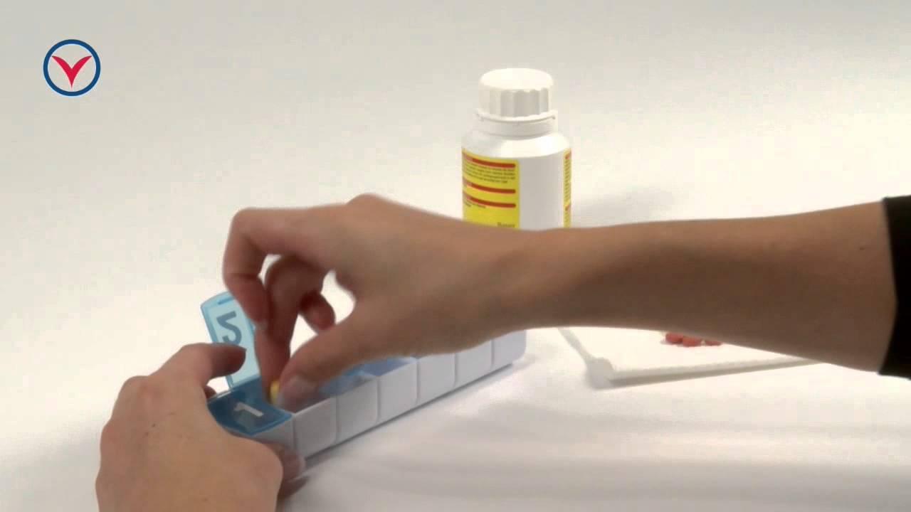 Tablettendose, Woche 7 - Praktische Aufbewahrungshilfe - YouTube