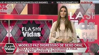 Paola Saulino Modelo Italiana Faz Digressão de Sexo Oral