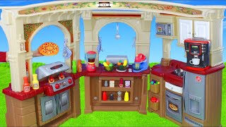 Cozinha - Brinquedos - Pretend Play Cooking with Kitchen Play Set and Food Toys