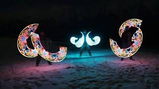 Fire  Light show Baku in Sheki
