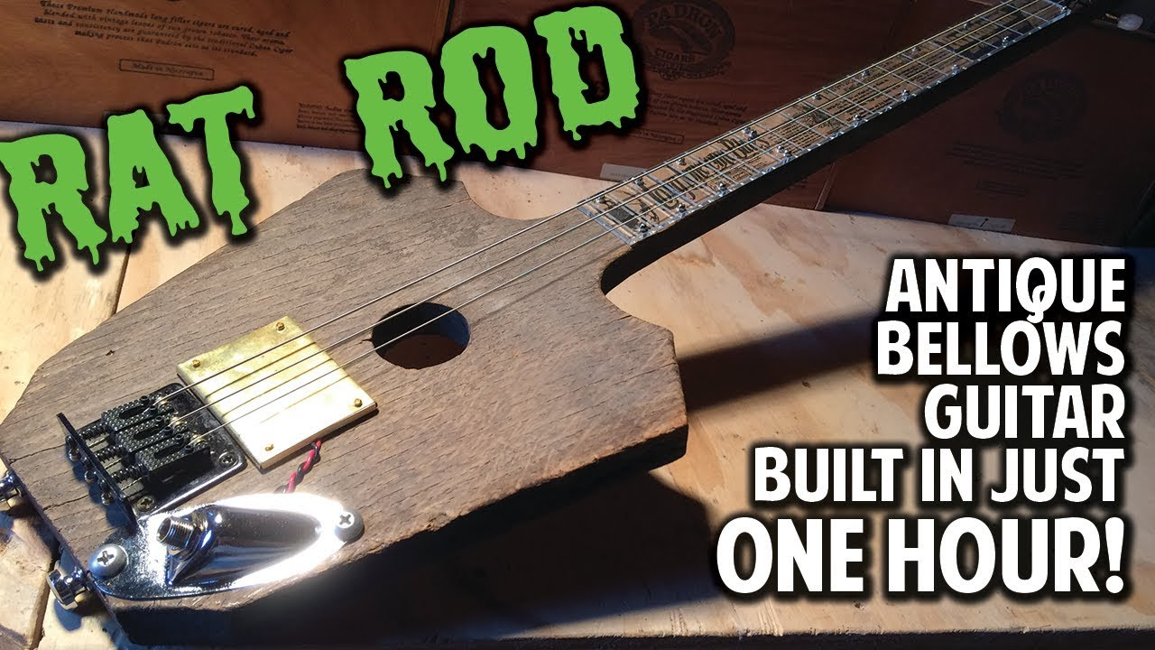 demo antique bellows rat rod guitar with wickedbucker pickup youtube. Black Bedroom Furniture Sets. Home Design Ideas
