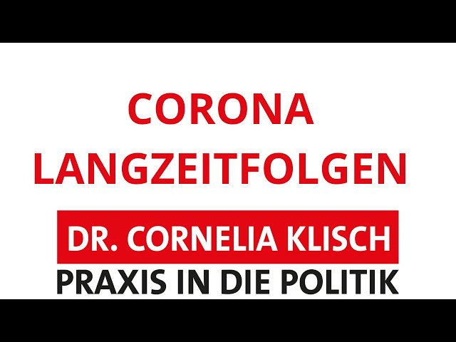 Corona und Langzeitfolgen - Dr. Cornelia Klisch - #thueringen