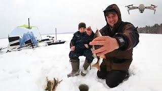 На Рыбалке с Сыном ЛОВЛЯ ОКУНЯ ОТДЫХ ПУТЬ ДОМОЙ Озеро Таёжное ЗАВЕРШЕНИЕ