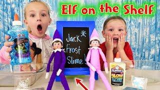 Elf on the Shelf Making Jack Frost Slime! Top Secret Note Found!!