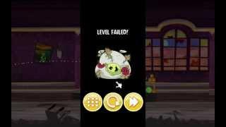 Angry Birds Seasons Mac - Haunted Hogs Level 1 FAIL SCREEN Zombie Pig