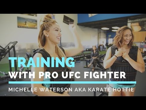 Training with Pro UFC Fighter Michelle Waterson