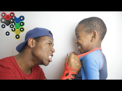 Thumbnail: Kid Spends $1000 on brother's credit card to buy fidget spinners **PRANK!** (BACKFIRES)