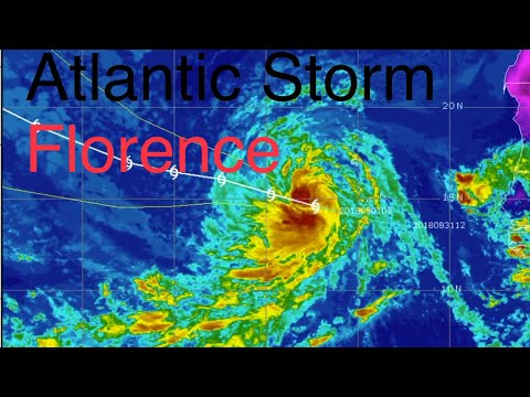 Global Weather/Atlantic Storm Florence/Typhoon JEBI Largest Storm of 2018!/ September, 1, 2018
