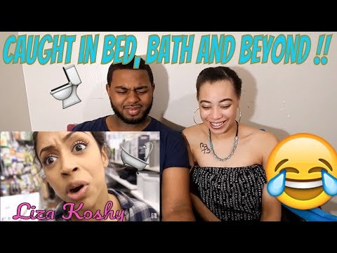 Couple Reacts to Liza Koshy I was CAUGHT in Bed...Bath and Beyond