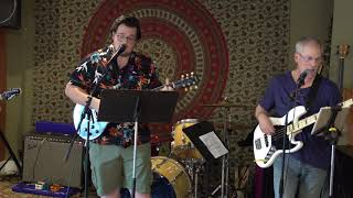 Sean, Zach and Odessa Performing Somebody Told Me Main Street Music and Art Studio