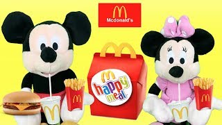 Mcdonalds con Mickey y Minnie mouse:fiesta en piscina de bolas.Regalos y juguetes sorpresa español