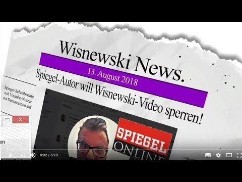 Spiegel-Autor will Wisnewski-Video sperren lassen!